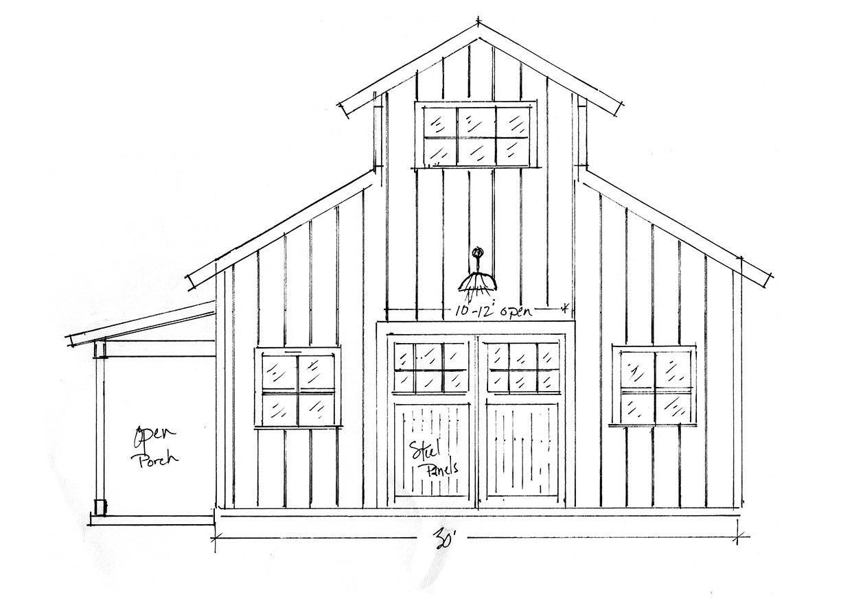 Concept Drawing of Barn