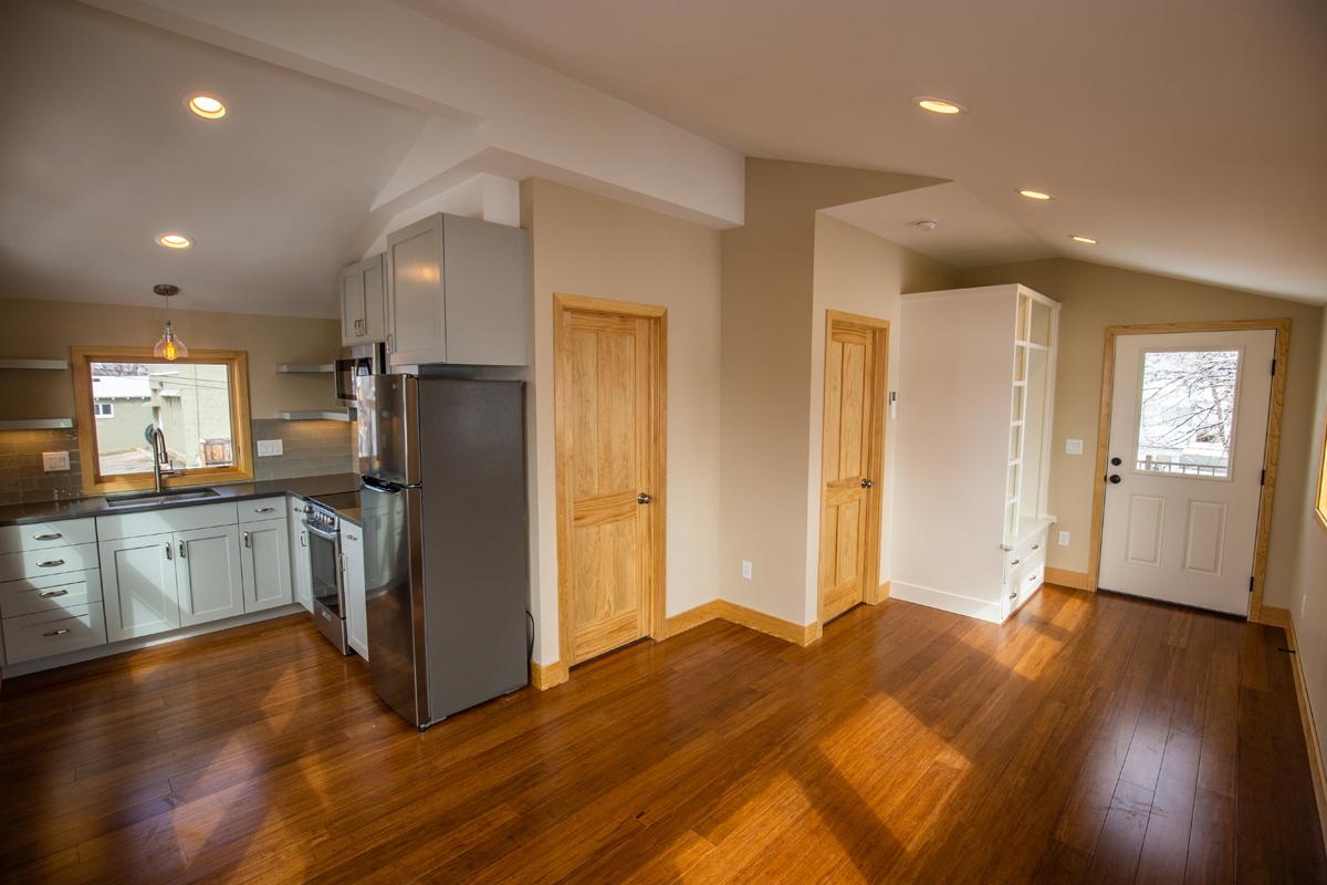 Wide angle shot of Living Room ADU
