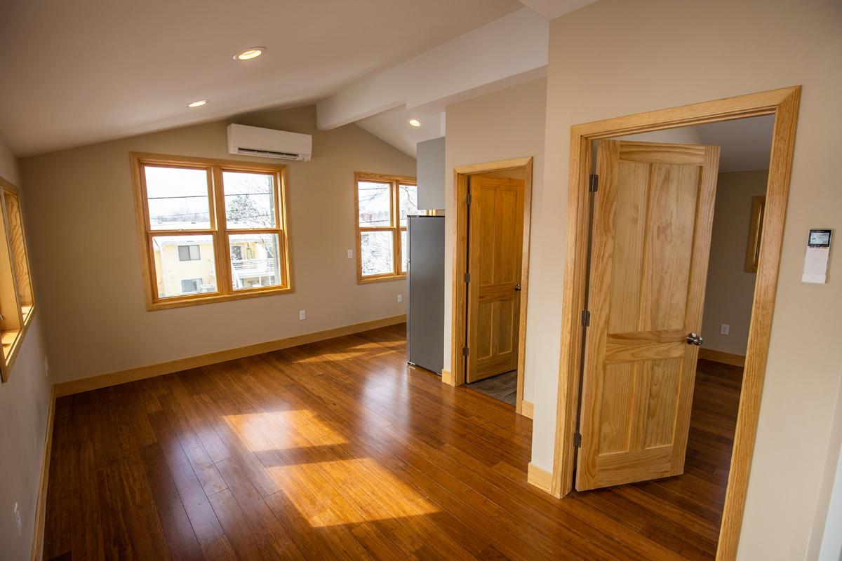 Living Room Wide Doors ADU