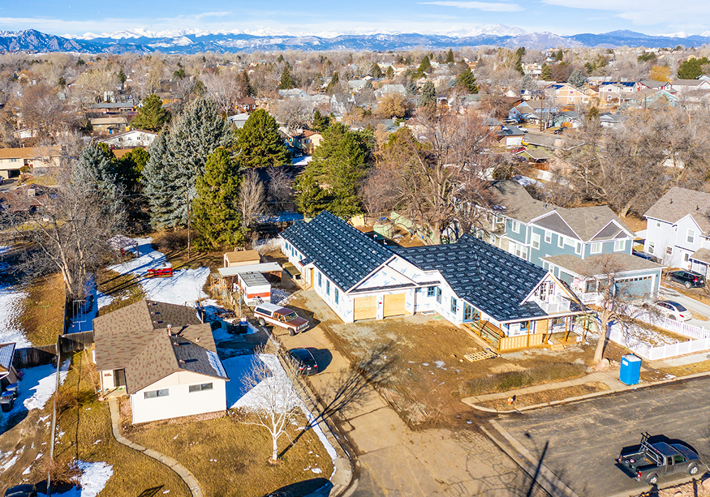 Aerial job site view, Lafayette, CO