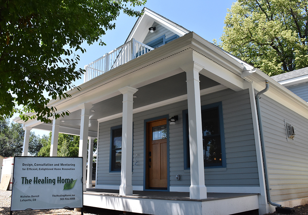 Front view by The Healing Home, Lafayette Colorado – offering Architectural & Interior Design services