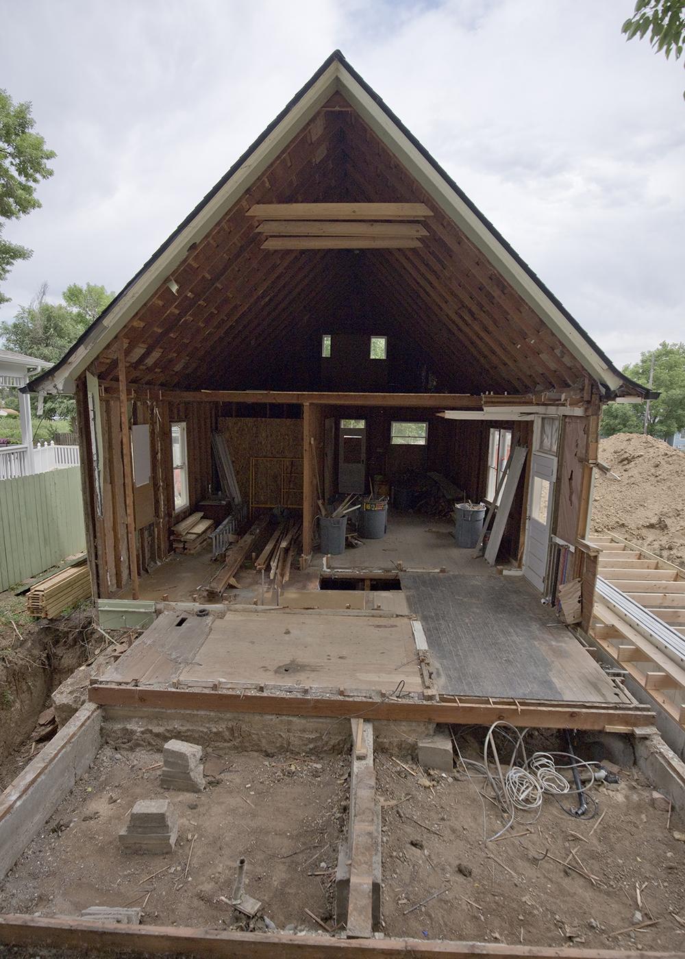 Original farmhouse rear view