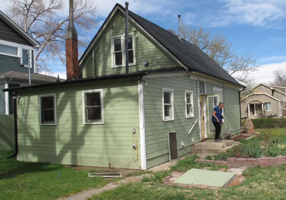 Original house from rear side yard