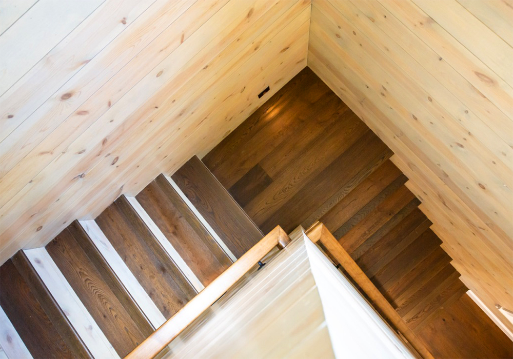 Staircase to private yoga studio by The Healing Home, Lafayette Colorado – offering Architectural & Interior Design services